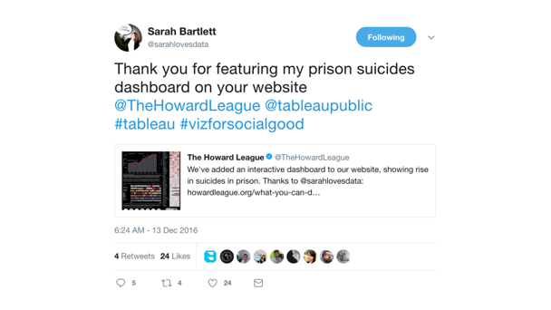 Howard League Tweet
