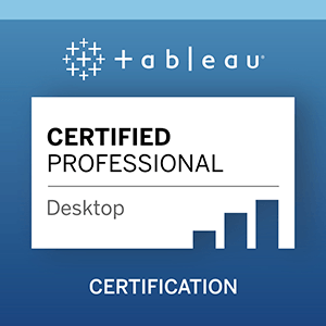 Tableau Certified Professional Logo