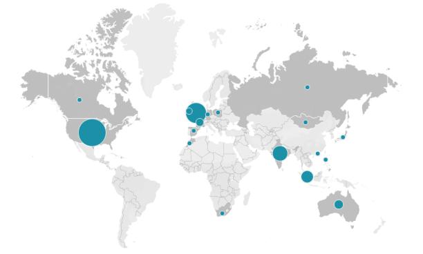 Iron Quest Participant Map